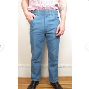 Wide Leg Wrangler Blue Wash High Waist Jeans